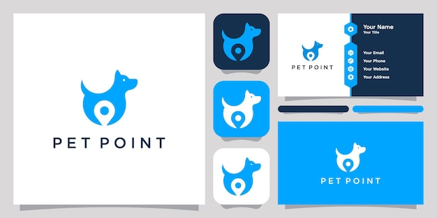 Pet point logo icon symbol template logo and business card
