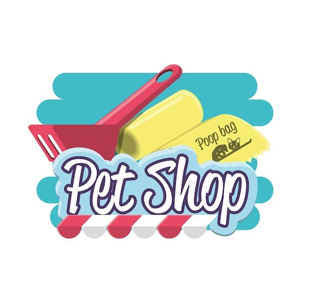 Pet shop accessories icons