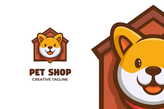 Зоомагазин уход за животными талисман логотип характер