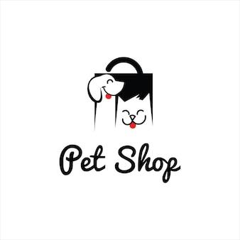 Pet shop cat dog veterinary vector