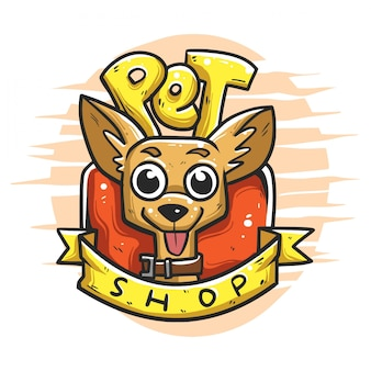 Pet shop logo badge