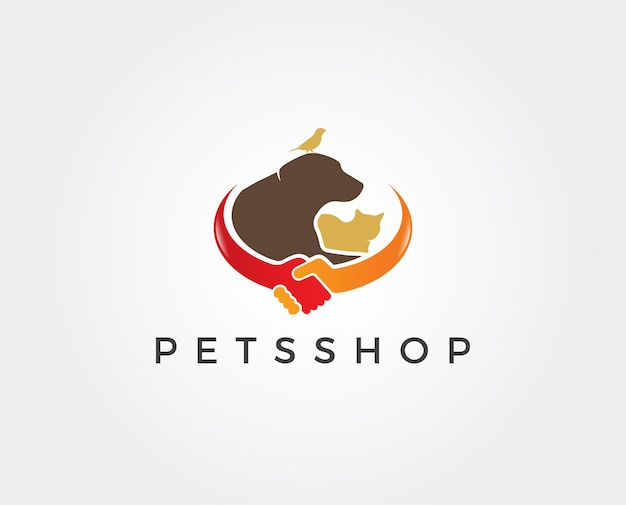 Шаблон логотипа зоомагазина