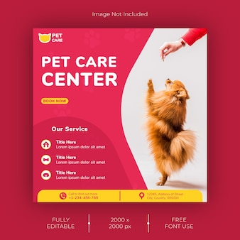 Pet shop social media post template