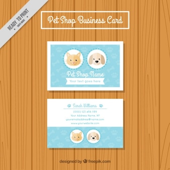 Pet store business card