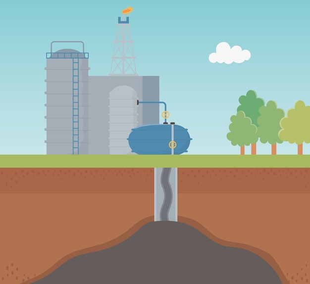 Petrochemical industry process exploration fracking