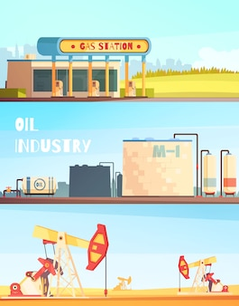 Petrol industry horizontal banners