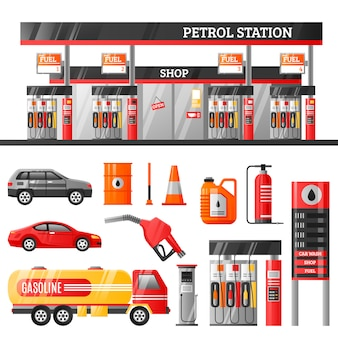 Petrol station design concept