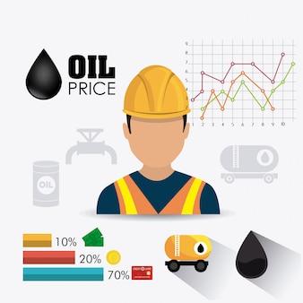 석유 및 석유 산업 infographic 디자인