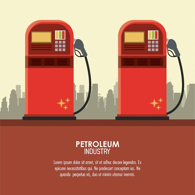 Petroleum industry concept