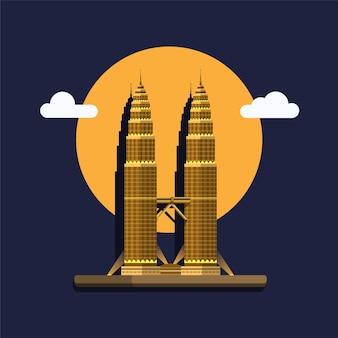 Petronas tower in malaysia