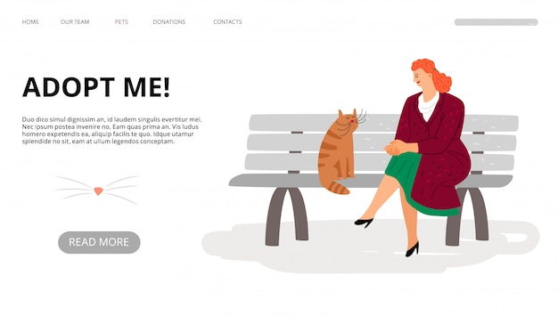 Pets adoption landing page