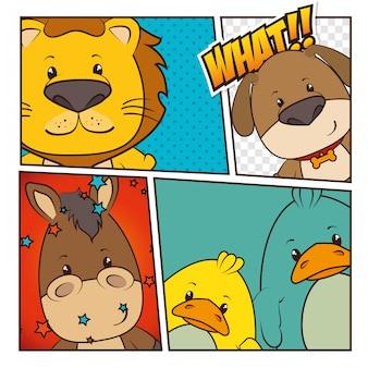 ペットと動物の漫画