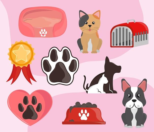 Pets animal set
