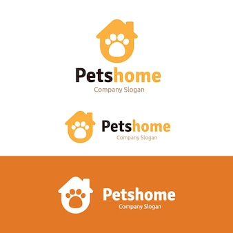Pets care logo template