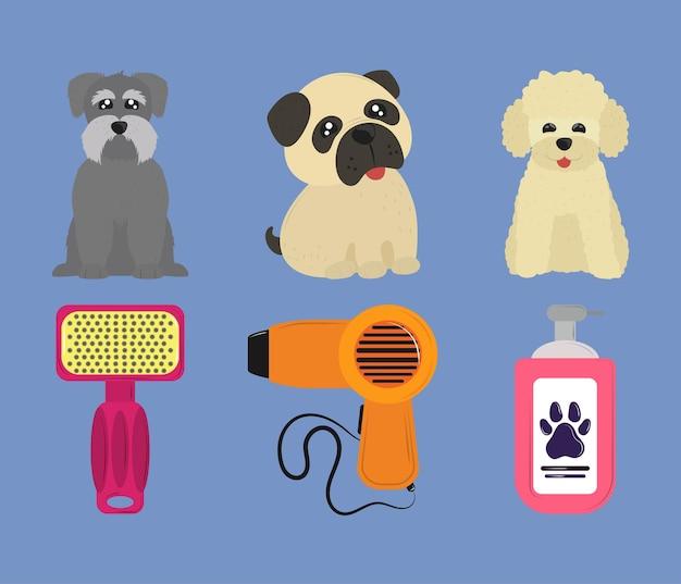Pets grooming set