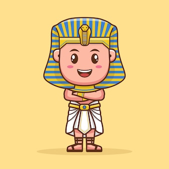Pharaoh cute cartoon character design