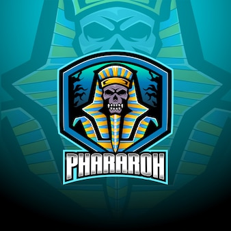 Pharaoh esport mascot logo template