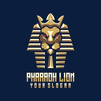 Pharaoh lion logo template
