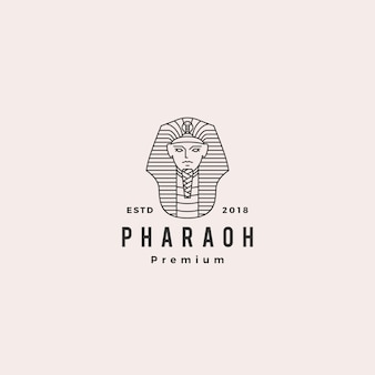 Pharaoh logo vector hipster retro vintage label illustration