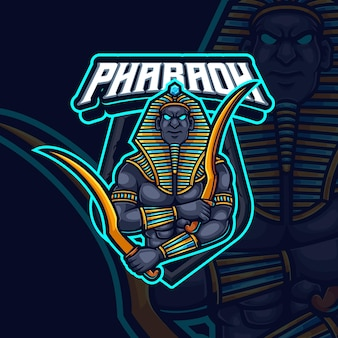 Pharaoh mascot esport gaming logo design