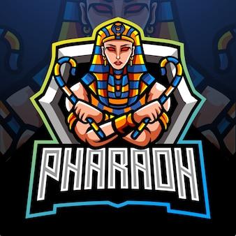 ファラオのマスコット。 eスポーツロゴデザイン