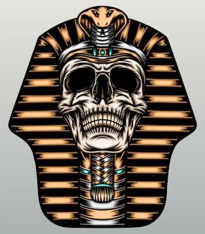 Pharaoh skull illustration.
