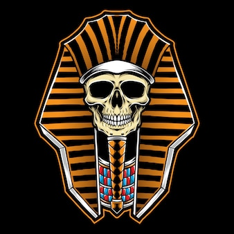 Pharaoh skull illustration