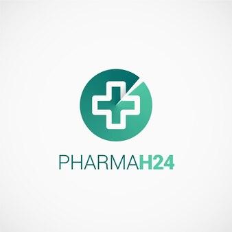 Pharmaceutical cross h24 logo
