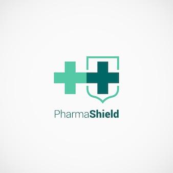 Pharmaceutical cross shield logo