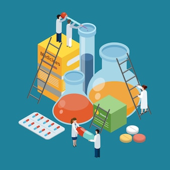 Pharmaceutical production composition isometric composition