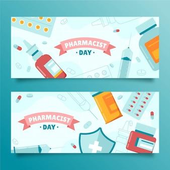 Set di banner per la giornata del farmacista