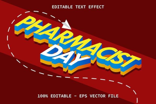 День фармацевта с эффектом редактируемого текста в современном стиле