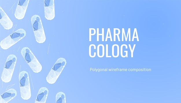 Pharmacology background with pills