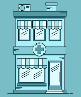 약국 건물. 약국 개요.