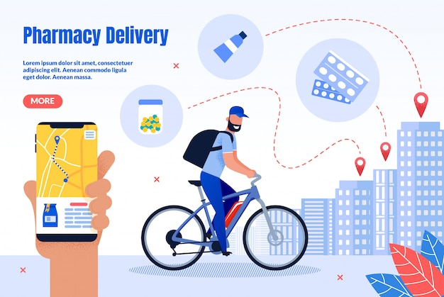 Pharmacy courier delivery service webpage