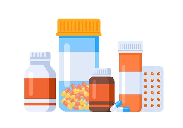 Pharmacy drug medication vector illustration website landing page