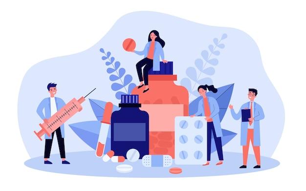 Pharmacy and drugstore concept illustration