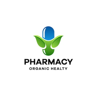 Pharmacy gradient colorful logo template