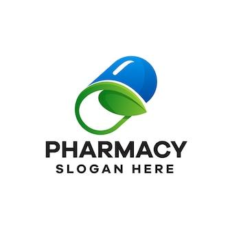Аптека градиент дизайн логотипа
