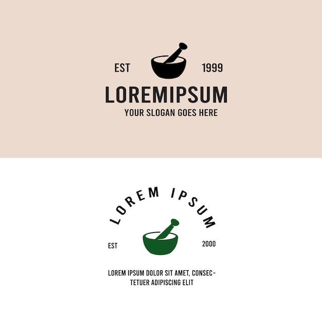 Pharmacy herbal mediciine logo