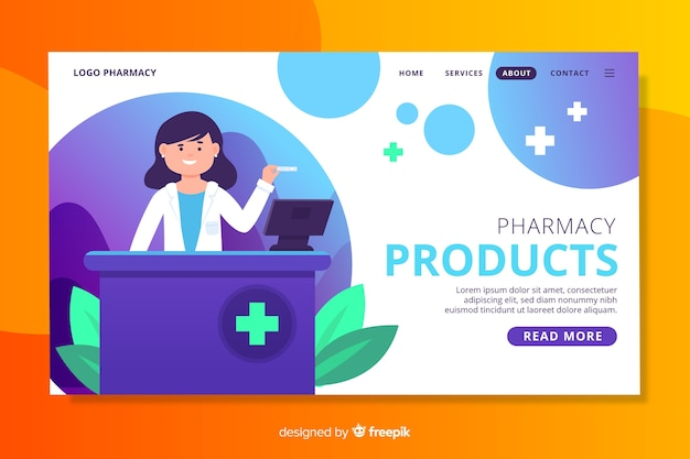 Pagina di destinazione della farmacia