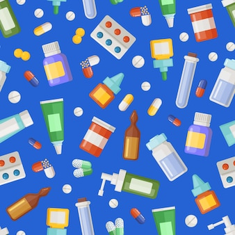 Pharmacy medicines, pills and potions pattern