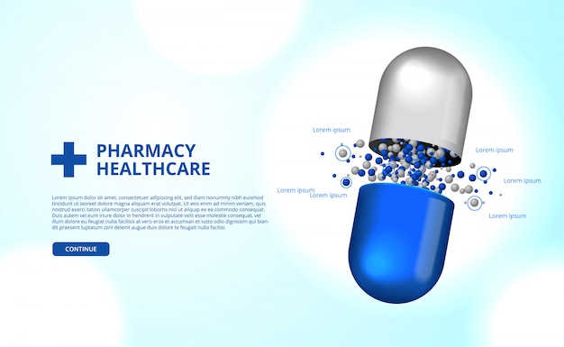 Pharmacy pills capsule medicine healthcare