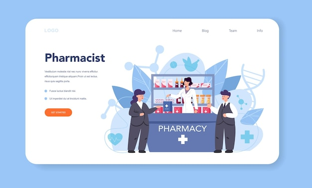 Pharmacy web banner or landing page