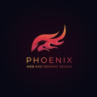 Шаблон логотипа pheonix
