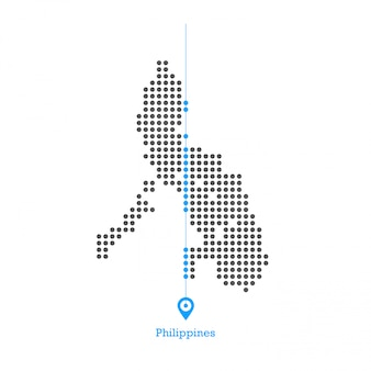 Philippines doted map design vector