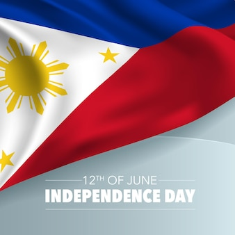 Philippines happy independence day greeting card