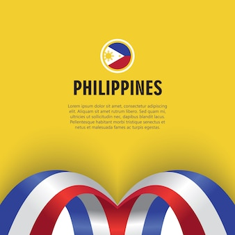 Philippines independence day vector template design illustration