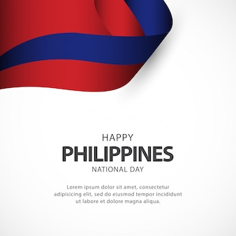 Philippines independence day vector template.