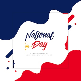 Philippines national day illustration